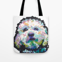 maltese poodle Maltipoo Dog Portrait Pop Art painting by Lea Tote Bag