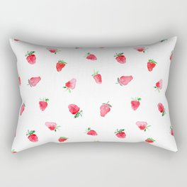 Baby strawberries || watercolor Rectangular Pillow
