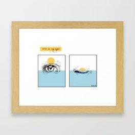Sun's in my Eyes Framed Art Print