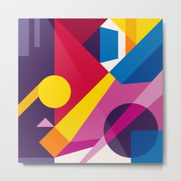 Abstract modern geometric background. Composition 6 Metal Print