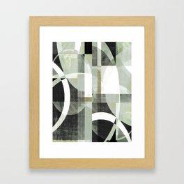 sage green art, sage green, boho art, mid century modern, geometric art, geometric print, abstract Framed Art Print