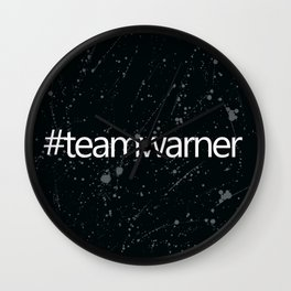 #teamwarner Wall Clock