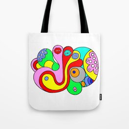 psychedelic cell (illustration) Tote Bag