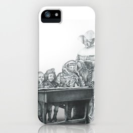 In which a cosmonaut is rendered quizzical iPhone Case