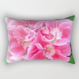 Springtime Geraniums Rectangular Pillow