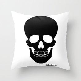 Black Skull Throw Pillow