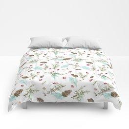 Pinecones and Berries Comforters