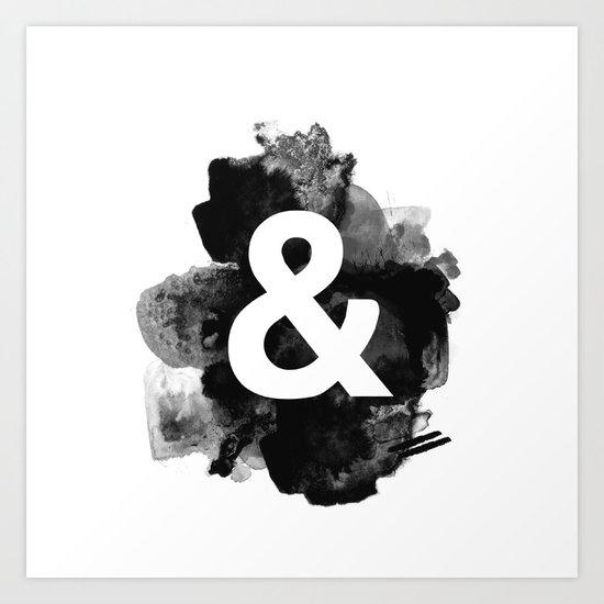 Ampersand Paint Art Print