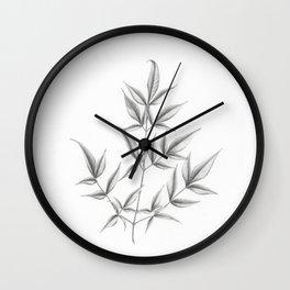Nandina domestica Wall Clock