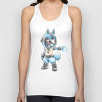 projectrocket Tank Tops featuring Isn't he Ad-AURA-ble? by Randy C