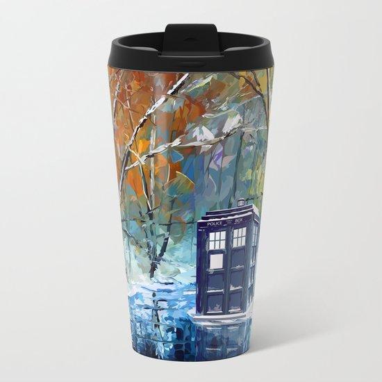 Starry Winter blue phone box Digital Art iPhone 4 4s 5 5c 6, pillow case, mugs and tshirt Metal Travel Mug