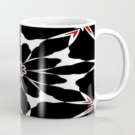 Bizarre Red Black and White Pattern 4 Coffee Mug
