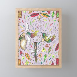 Fall Leaf Fairies Framed Mini Art Print