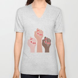 Womens For All Woman Every Kind And Race Fempowerment Power Women Unisex V-Neck