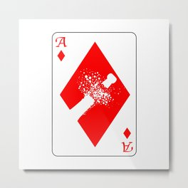 Ace of Diamonds Metal Print