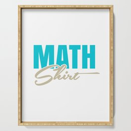 Math Science Shirt - This is my Math Shirt Serving Tray