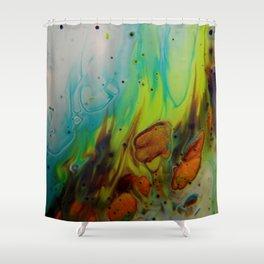 Neon Burn - Abstract Acrylic Art by Fluid Nature Shower Curtain