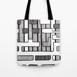 Mid Century Modern Stripes Tote Bag