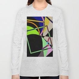 Retro Pastel X - Abstract, geometric, scandinavian pattern artwork Long Sleeve T-shirt