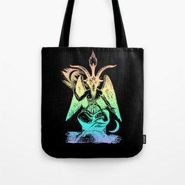Pastel Rainbow Baphomet Tote Bag