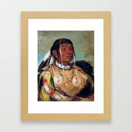 Sha-có-pay, The Six, Chief of the Plains Ojibwa by George Catlin Framed Art Print