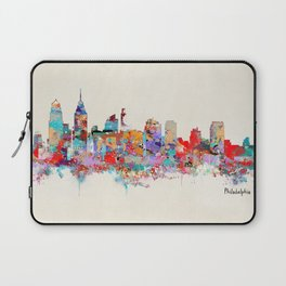 Philadelphia Pennsylvania skyline Laptop Sleeve