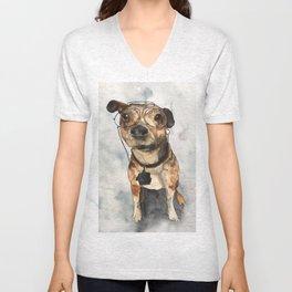 DOG #7 Unisex V-Neck