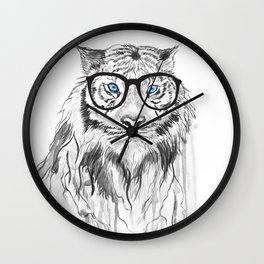 Tiger with glasses Wall Clock
