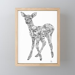 Leafy Deer Framed Mini Art Print