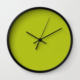 Acid Green Wall Clock