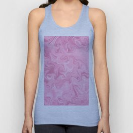 Modern abstract pink watercolor marble pattern Unisex Tank Top