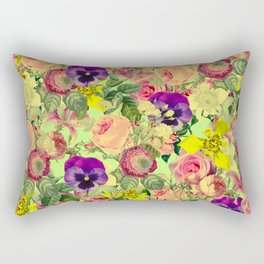 Floral Pattern II Rectangular Pillow