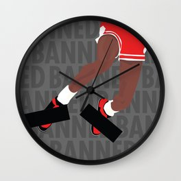 Banned (Grey) Wall Clock