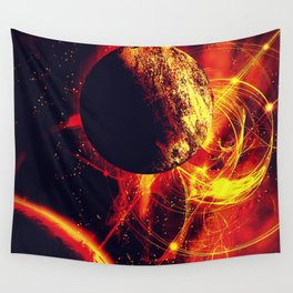 Space is on Fire Wall Tapestry