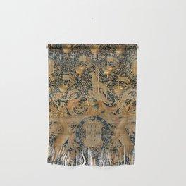 Vintage Golden Deer and Royal Crest Design (1501) Wall Hanging
