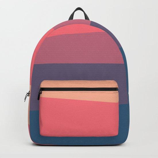 red blue color palette Backpack