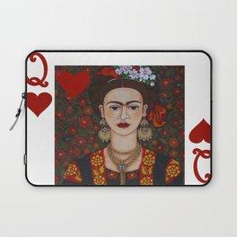 Frida Kahlo, reina de corazones II Laptop Sleeve