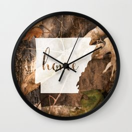 Arkansas is Home - Camo Wall Clock