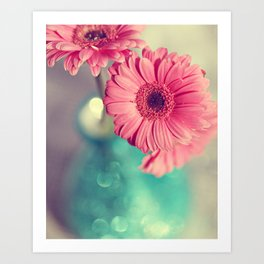 Pink Gerbera Daisy Art Print