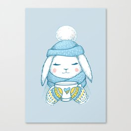 Winter Rabbit Canvas Print