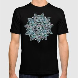 Mermaid Mandala on Deep Gray T-shirt
