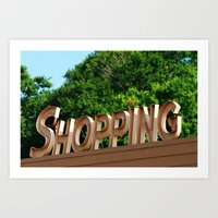 shopping Art Prints featuring Shopping by Ink and Paint Studio
