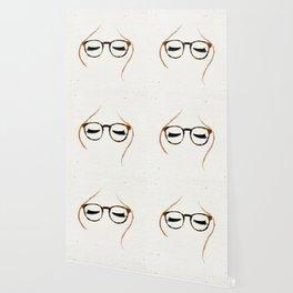 Tortoiseshell Glasses Red Wallpaper