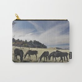 Free horses at the mountains Carry-All Pouch