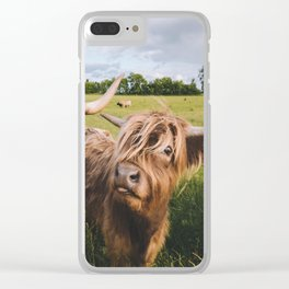 Highland Cows - Blep Clear iPhone Case