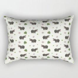 Hippos and Flowers Rectangular Pillow