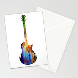 Sounds of music. Guitar . Stationery Cards