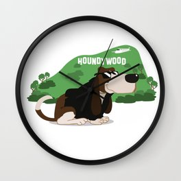 Hollywood Basset Hound Wall Clock