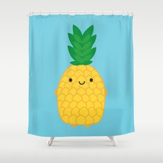 Kawaii Pineapple Shower Curtain