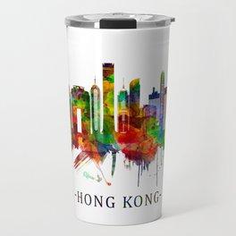 Hong Kong China Skyline Travel Mug